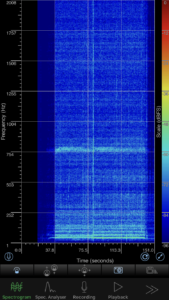 SpectrumViewの測定画面
