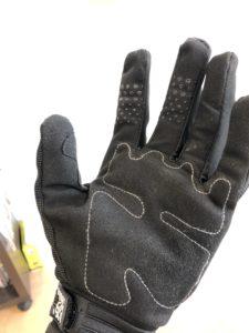 MTBグローブの手のひら補強